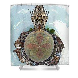Planet Gouda Shower Curtain