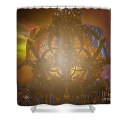 Planet Horizon Shower Curtain by Melissa Messick