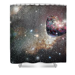 Planet Love Shower Curtain