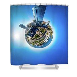 Planet Milwaukee Shower Curtain
