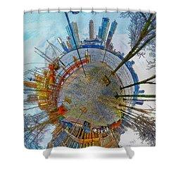Planet Rotterdam Shower Curtain
