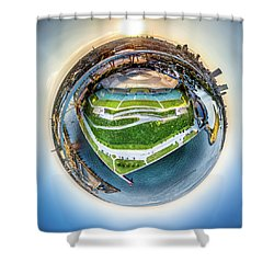 Planet Summerfest Shower Curtain