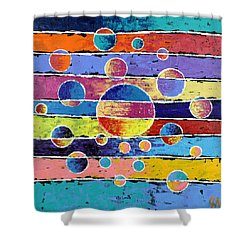 Planet System Shower Curtain
