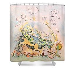 Planetary Chariot Shower Curtain by Dave Martsolf