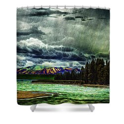 Planetary Infection Shower Curtain