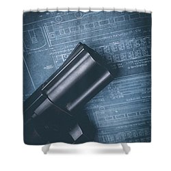 Shower Curtain featuring the photograph Planning The Heist by Edward Fielding