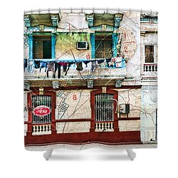 Plano De La Habana Shower Curtain
