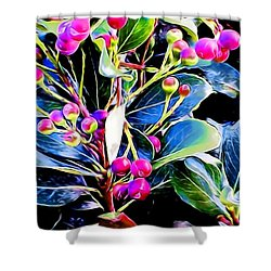 Plant 14 In Abstract Shower Curtain