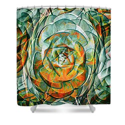 Shower Curtain featuring the photograph Plant Abstract by Wayne Sherriff