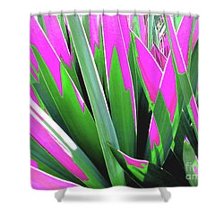 Plant Burst - Pink Shower Curtain