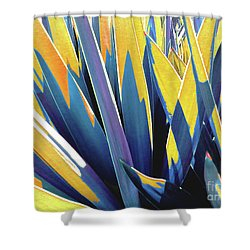 Shower Curtain featuring the photograph Plant Burst - Yellow by Rebecca Harman