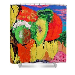 Plant Food Still Life Shower Curtain by Raymond Perez