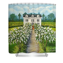 Plantation Home Shower Curtain by Sandra Lett