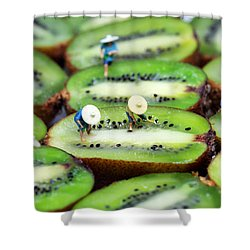 Planting Rice On Kiwifruit Shower Curtain