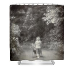 Planting-sepia Shower Curtain