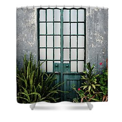 Shower Curtain featuring the photograph Plants In The Doorway by Marco Oliveira