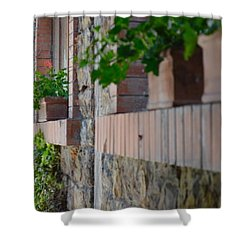 Plants In Windows Shower Curtain