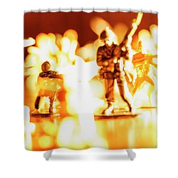 Shower Curtain featuring the photograph Plastic Army Men 1 by Micah May