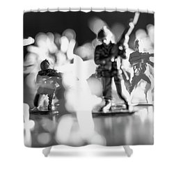 Shower Curtain featuring the photograph Plastic Army Men 2 by Micah May