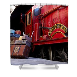 Platform Nine And Three Quarters Shower Curtain by Julia Wilcox