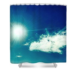 Platinum Rays And Angelic Cloud Bless The Prairie Shower Curtain