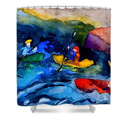 Platte River Paddling Shower Curtain