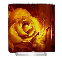 Play A Love Song Shower Curtain by Annie Zeno