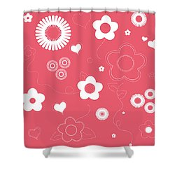 Playful Flower Background Shower Curtain