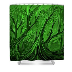 Shower Curtain featuring the digital art Play Green #h6 by Leif Sohlman