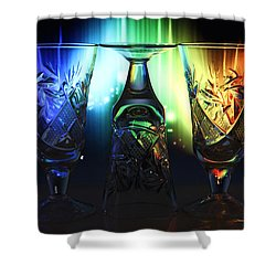 Play Of Glass And Colors Shower Curtain