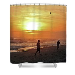 Play On The Beach Shower Curtain