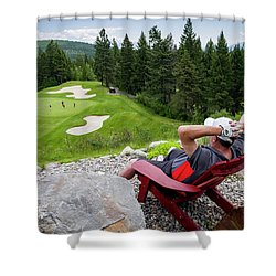 Shower Curtain featuring the photograph Play Through Or Enjoy The View by Darcy Michaelchuk