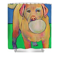 Play With Me Shower Curtain by Pat Saunders-White