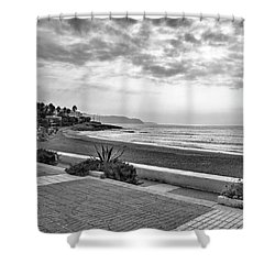 Playa Burriana, Nerja Shower Curtain by John Edwards