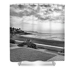 Playa Burriana, Nerja Shower Curtain by John Edwards