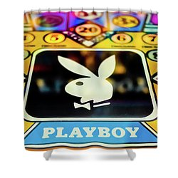 Playboy Pinball Shower Curtain