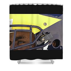 Player In Winged Helmet Shower Curtain