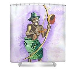 Player Umuduri From Rwanda Shower Curtain