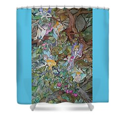 Playful Shower Curtain by Claudia Cole Meek