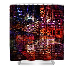 Playful Evening Shower Curtain