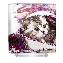 Playful Feline Shower Curtain
