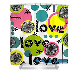 Playful Love Shower Curtain