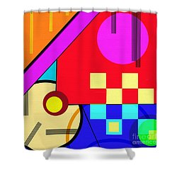 Shower Curtain featuring the digital art Playful by Silvia Ganora