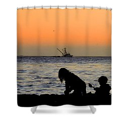 Playful Time Shower Curtain