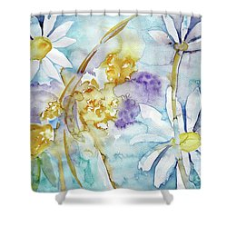 Shower Curtain featuring the painting Playfulness by Jasna Dragun
