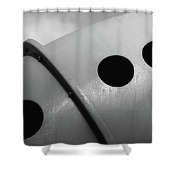 Shower Curtain featuring the photograph Playground Bridge by Richard Rizzo