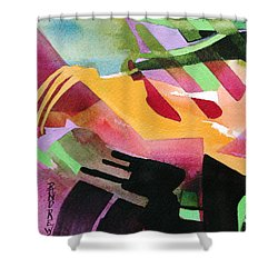 Shower Curtain featuring the painting Playground Escape by Rae Andrews