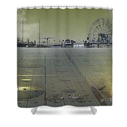 Shower Curtain featuring the digital art Playground On Planet X by Melissa Messick
