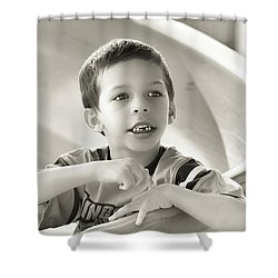 Playground Physics Shower Curtain by Bob Orsillo