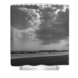 Shower Curtain featuring the photograph Playing At The Beach by Alana Ranney